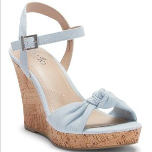 Lolly knotted platform wedge sandal